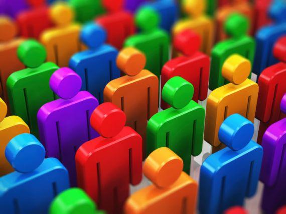 Multi colour people